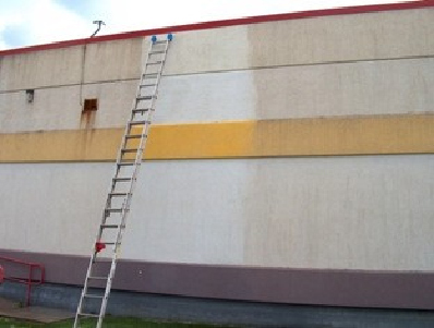 Before/After Using SB 2600 on EIFS Test Panel for Project