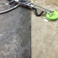 Before/After Photo of Concrete Floor at Meat Processing Facility in Chicago, IL